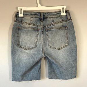Free People Shorts - NWT Free People Avery Bermuda blue shorts 24